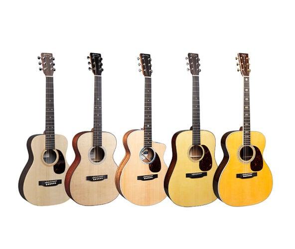 Martin Guitar body sizes