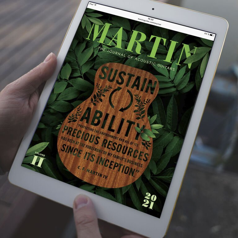Martin Journal cover on tablet device