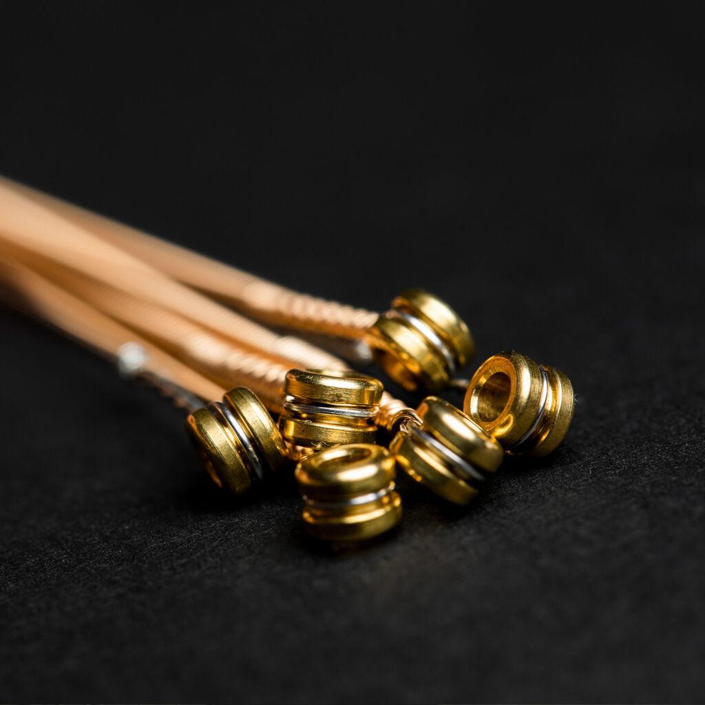 Close up of guitar strings