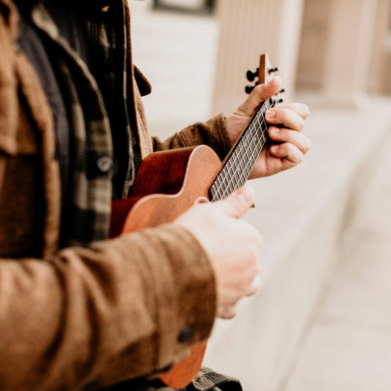 Person playing uke