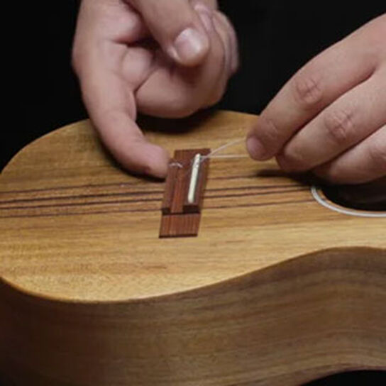 How To Restring a Tie Block Ukulele