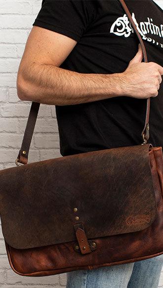 Martin Leather Commuter Bag