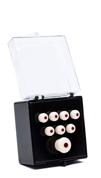 Authentic Series Bridge and End Pin Set (White w/ Tortoise Inlay)