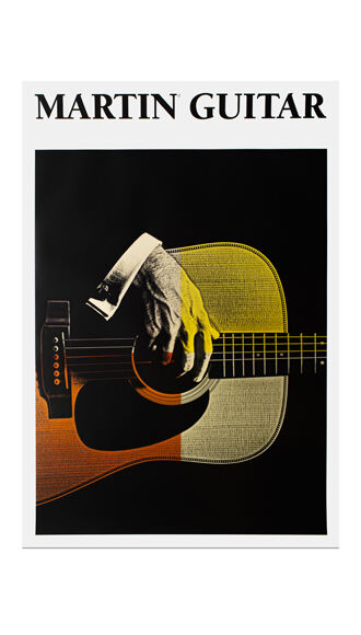 Martin Guitar Poster