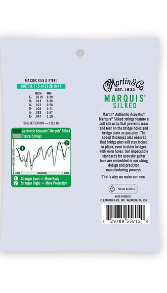 Martin Authentic Acoustic Marquis® Silked Guitar Strings