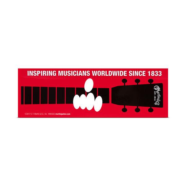 Inspiring Musicians Bumper Sticker image number 0