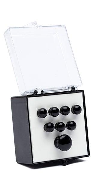 Authentic Series Bridge and End Pin Set (Plain Black)