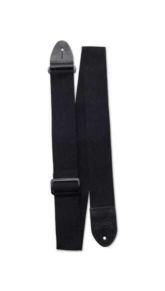 Basic Cotton Weave Strap w/ Pick Holder (Black)