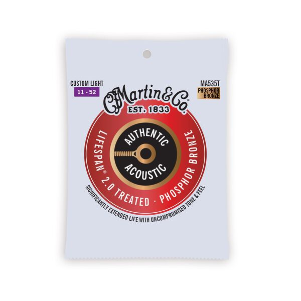 Authentic Acoustic Lifespan® 2.0 Guitar Strings Phosphor Bronze image number 0
