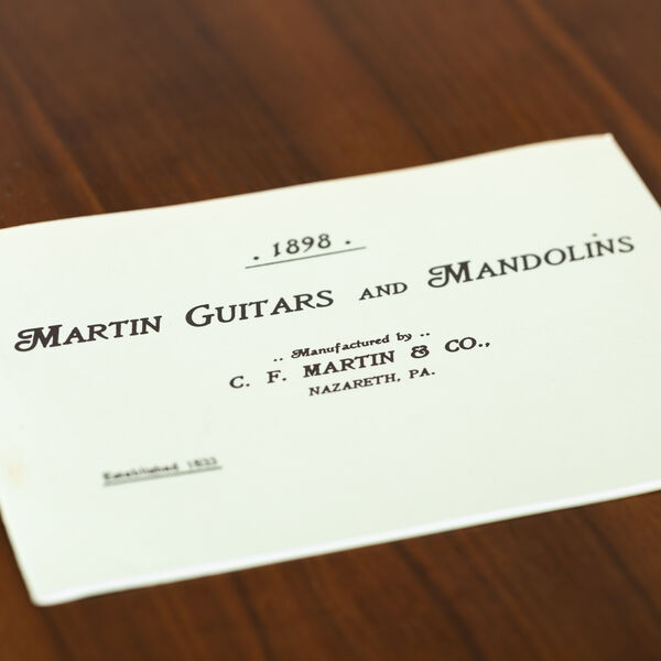 CF Martin 1898 Catalog Reprint image number 1