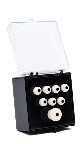 Authentic Series Bridge and End Pin Set (White w/Black Inlay)