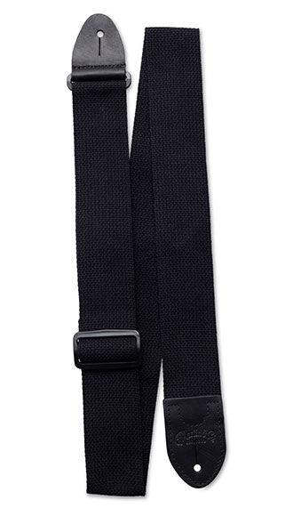 Basic Cotton Weave Strap w/ Pick Holder (Black)