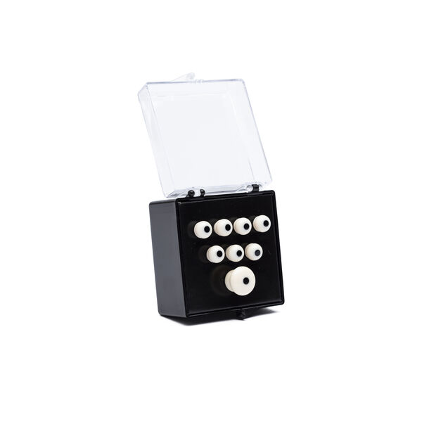 Authentic Series Bridge and End Pin Set (White w/Black Inlay) image number 0