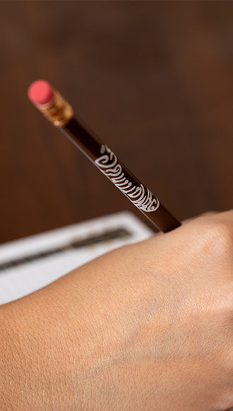 Martin Logo Pencil (Brown with White Logo)