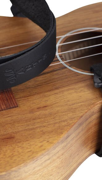 Leather Ukulele Strap (Black)