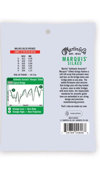 Authentic Acoustic Marquis® Silked Guitar Strings 80/20 Bronze