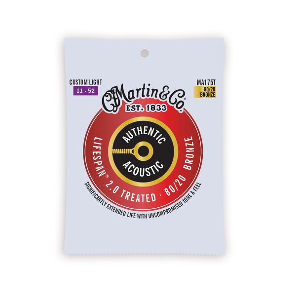 Authentic Acoustic Lifespan® 2.0 Guitar Strings 80/20 Bronze image number 0